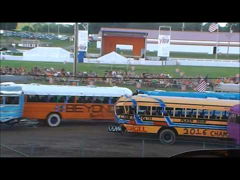 Butler School Bus Demoliton Derby MAIN EVENT