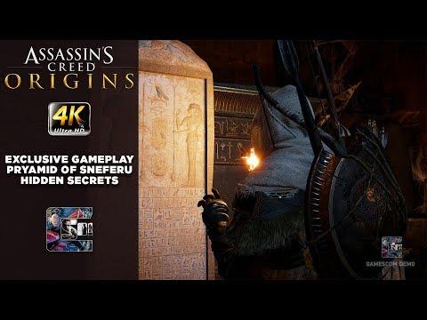 Assassin's Creed: Origins Exclusive Gameplay - Pyramid Tomb of Sneferu / Hidden Secrets
