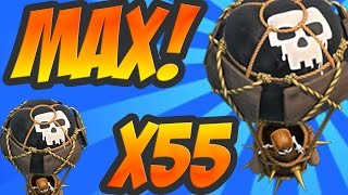 Clash of Clans: 55 MAX Balloons - EASY 3 Star! - Beak's Balloon Special #1