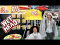 GIANT WET HEAD EXTREME CHALLENGE! New York City Toy Fair - Toys AndMe Family