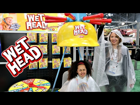 Thumbnail: GIANT WET HEAD EXTREME CHALLENGE! New York City Toy Fair - Toys AndMe Family