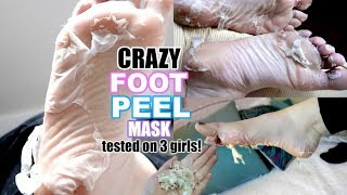 3 GIRLS TEST A CRAZY FOOT PEEL MASK!