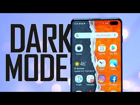 Dark Mode on Galaxy S10 GREATLY improves battery life!
