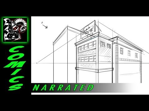 How to Draw - Buildings - Using Sketchbook Pro - Tutorial - Narrated