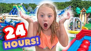 Download WE TURNED OUR BACKYARD INTO A REAL WATERPARK FOR 24 HOURS Mp3 and Videos