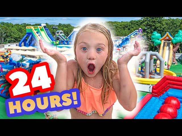 WE TURNED OUR BACKYARD INTO A REAL WATERPARK FOR 24 HOURS
