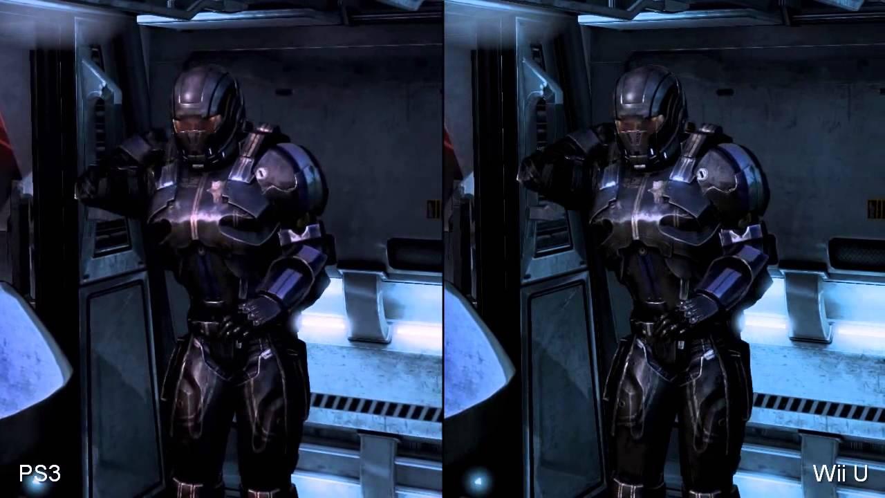 mass effect 3 wii u vs playstation 3 comparison video