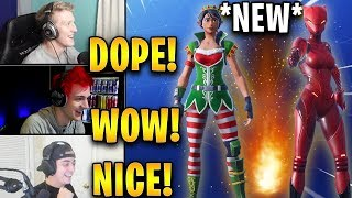 Streamers React to *NEW* Tinseltoes Skin + Crackdown Emote! | Fortnite Highlights & Funny Moments