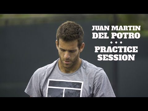 JUAN MARTIN DEL POTRO PRACTICE SESSION WITH FRANCES TIAFOE