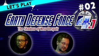 [2] Let's Play Earth Defense Force 4.1: The Shadow of New Despair mit Ian und Marco | 19.02.2016