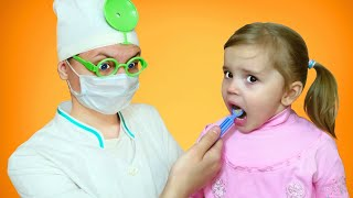 Ариша и Лиза собрались чистить зубы