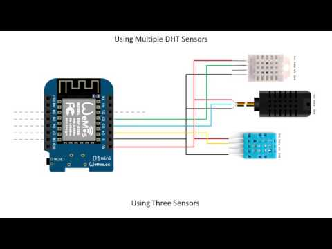 Tech Note 012 - ESP8266 Reading Multiple DHT Sensors