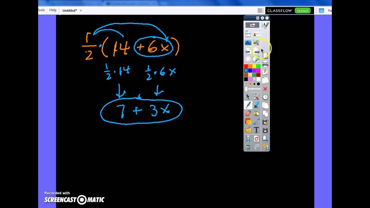 Combining like terms distributing and factoring youtube combining like terms distributing and factoring ccuart Gallery