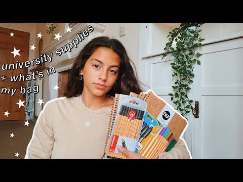 BACK TO UNIVERSITY SUPPLIES HAUL + what's in my uni bag!