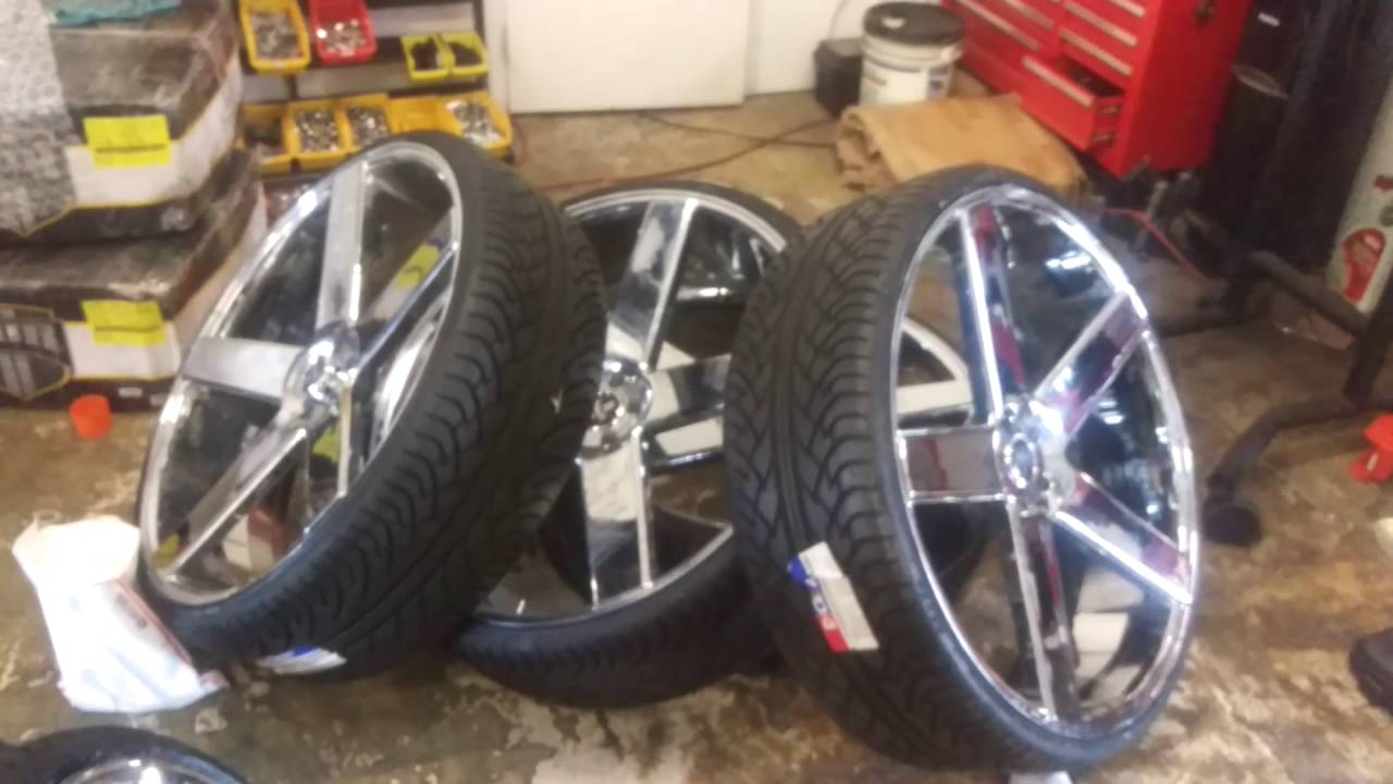 877 544 8473 30 Inch Dub Baller Chrome Wheels Drilled To Fit The Crown Vic Call Us Free Shipping Youtube
