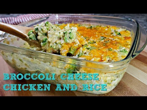 EASY Cheesy Broccoli Chicken Rice Casserole | Broccoli Cheese Rice Casserole