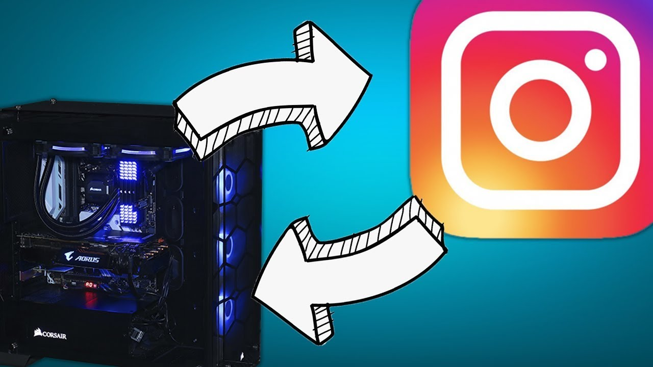 Как загрузить фото в Instagram через компьютер - YouTube
