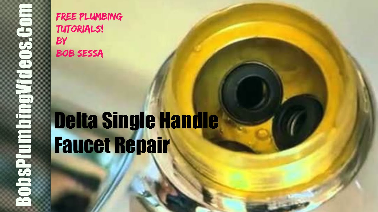 Delta Faucet Repair One Handle / Repair One Handle Faucet - YouTube