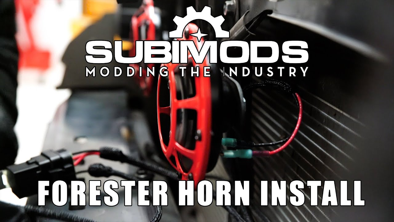 hight resolution of subimods hella horn kit install video 2013 2016 forester