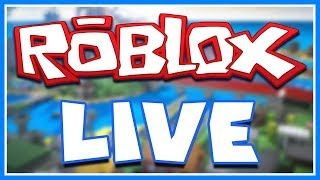 [ROBLOX] LIVE STREAMING!/Road to 200 SUBSCRIBERS