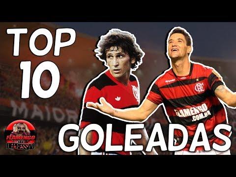 TOP 10 - GOLEADAS DO FLAMENGO