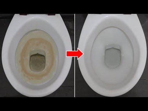馬桶裏加上幾滴它。多髒的污垢黃漬立馬不見了。馬桶半年都不用刷。簡單實用還省事! - YouTube