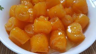 Portakal Kabuğu Reçeli Nasıl Yapılır - Tam ölçü tam kıvam lokum gibi harika bir lezzet-