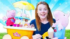Spielzeugvideo mit Peppa Wutz. Irene baut für Peppa und Schorsch eine Eismaschine.