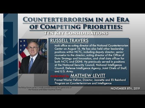 National Counterterrorism Center (NCTC) Acting Director Russell Travers Presentation