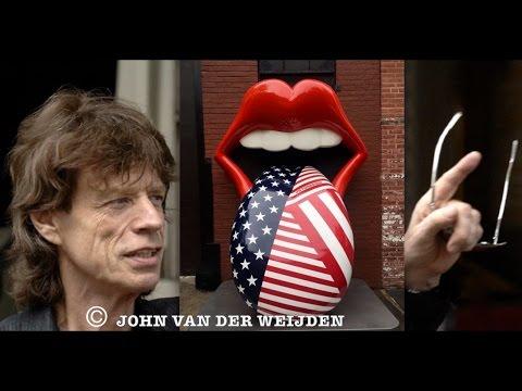 Mick Jagger/Rolling Stones compilatie video in Amsterdam.
