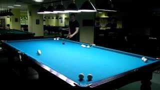 Русский бильярд - упражнение 14 шаров, четкая последовательность