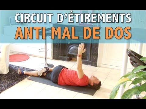 soulagez les douleurs du dos avec ce circuit d 39 tirements coach fitness youtube. Black Bedroom Furniture Sets. Home Design Ideas