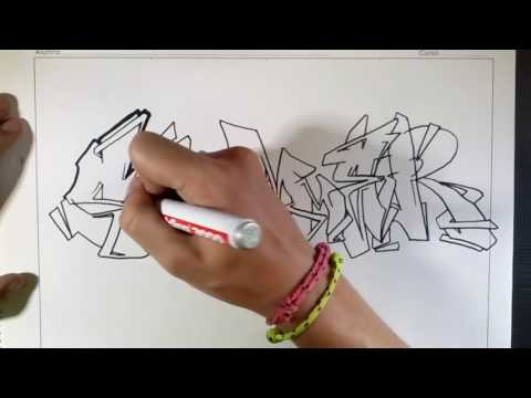 Tutorial mengambar graffiti buku/kertas