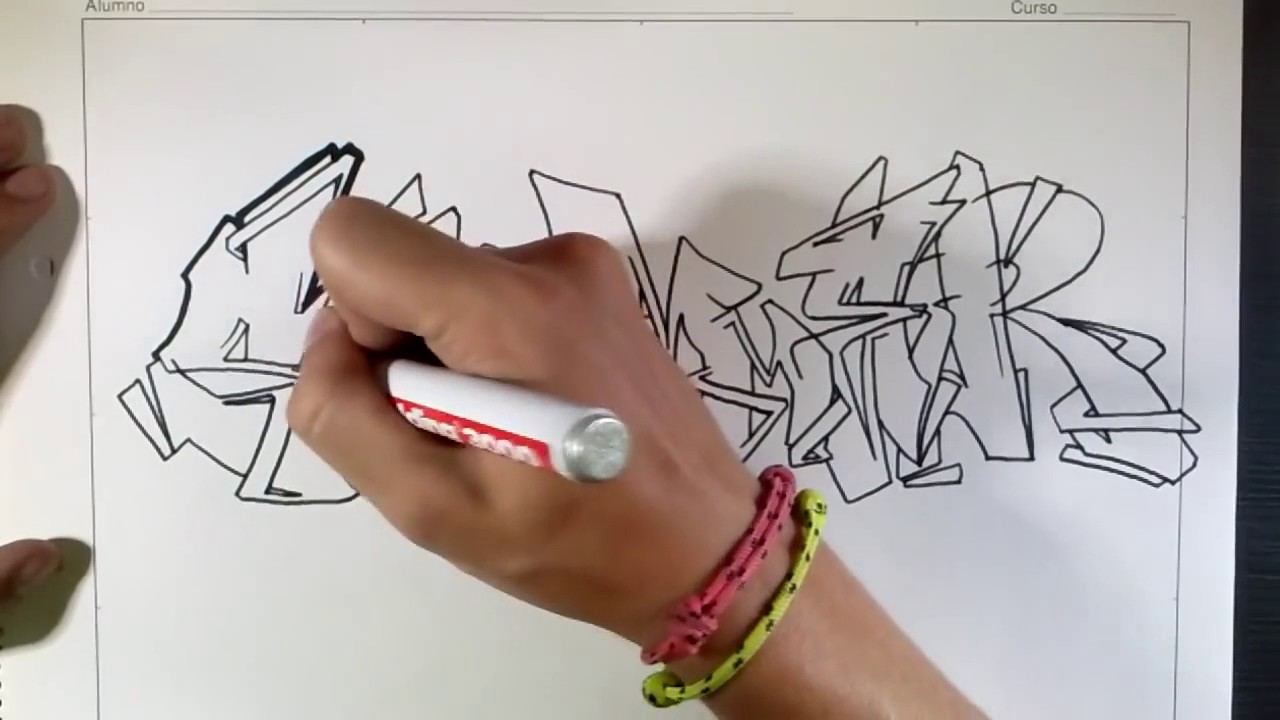 Tutorial Mengambar Graffiti Buku Kertas Youtube