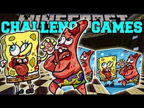 PopularMMOs Pat and Jen Minecraft Spongebob and Patrick CHALLENGE GAMES Lucky Block Mod Mini Game