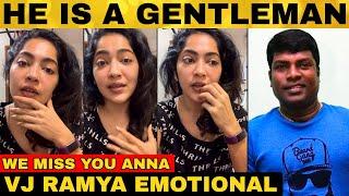 VJ Ramya Emotional About Vadivel Balaji | Vijay TV