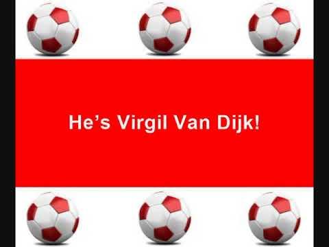 Liverpool FC Chants - He's Our Number 4, He's Virgil Van Dijk - With Lyrics *NEW*