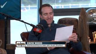 Drew Brees reads his negative draft reviews (2/4/16)