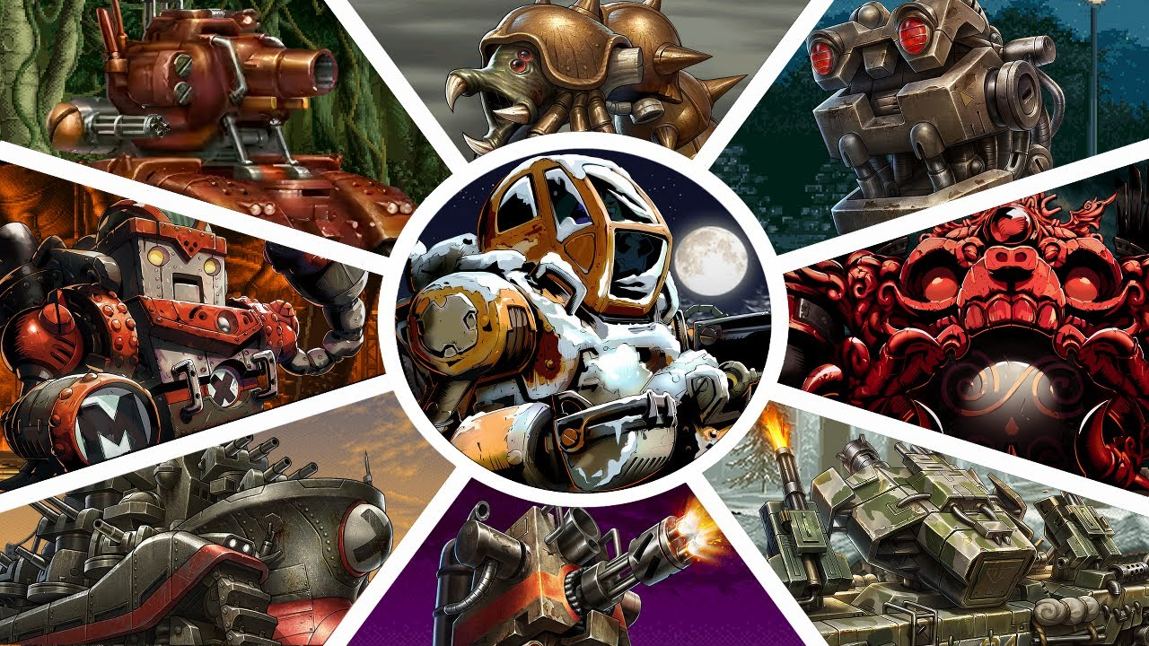 Metal Slug - All Bosses (Hard Level-8 No Death) | 1,2,X,3,4,5,6,7,XX