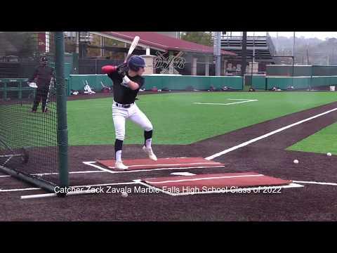 Catcher Zack Zavala Marble Falls High School Class of 2022