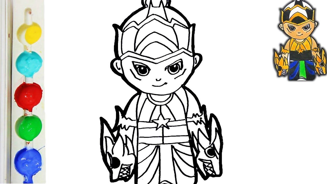 Menggambar Dan Mewarnai Kartun Gatot Kaca Untuk Anak Anak San