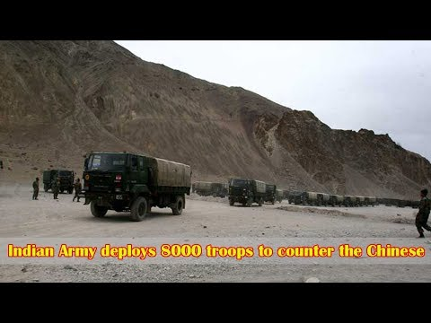 Military might on show as the Indian Army deploys about 8,000 troops in eastern Ladakh to counter th