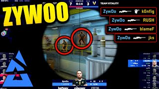 ZYWOO WTF IS THAT!! - Blast Premier BEST MOMENTS - CSGO Day 4 Highlights