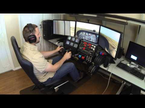 X-Plane Simulator with TrackIR and Saitek Cessna Pro Flight Controls