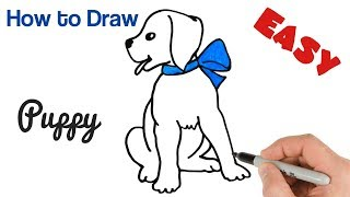 How to Draw Puppy Cute and Easy Drawing for Kids