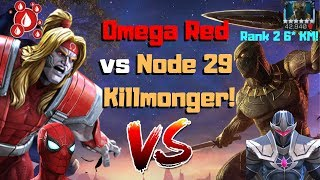 omg node 29 killmonger vs omega red path 5 marvel contest of champions