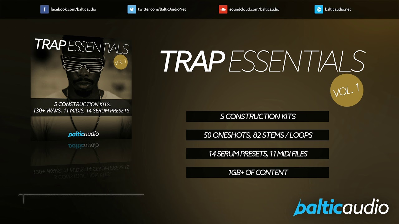 Trap Essentials Vol 1 (5 Construction Kits, 130+ WAVs, 14 Serum Presets, 11 Midis)