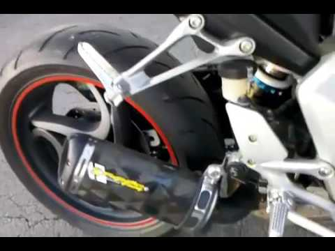 honda cb1000r two brothers exhaust sound