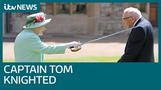 NHS hero Captain Tom Moore knighted by the Queen | ITV News