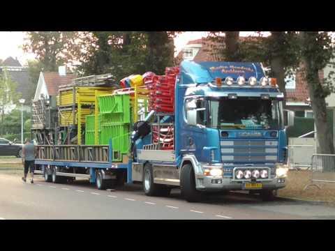 Kermis Wijchen 2016 transport en opbouw deel 1